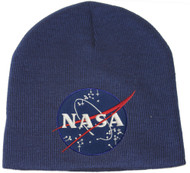 Delux Military 3D Embroidery Law Enforcement Beanie NASA - Navy