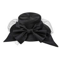 ChicHeadwear Large Bow w/ Veil Braid Hat