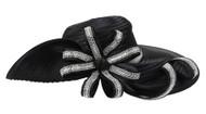 ChicHeadwear Asymmetrical Brim Looped Rhinestone Hat