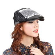 Top Headwear Lace Stone Flat Driver Cap