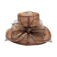 Chic Headwear Organza Floppy Church Hat