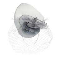 Chic Headwear Double Tilt Veil Mesh Fascinator