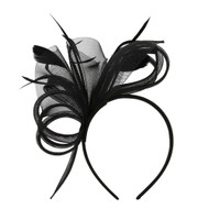Chic Headwear Fascinator w/ Side Loops Feathers