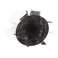 Chic Headwear Bow w/ Center Flower Veil Fascinator