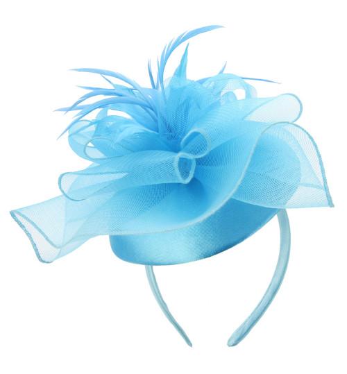 Chic Headwear Mesh Floral Feather Cap Fascinator