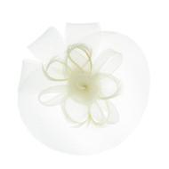 Chic Headwear Mesh Double Flower Veil Fascinator
