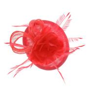 Chic Headwear Woven Lotus Feather Loop Fascinator