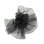 Chic Headwear Large Polka Dot Veil Mesh Fascinator
