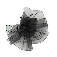Chic Headwear Large Polka Dot Veil Mesh Fascinator