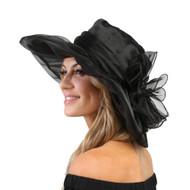 ChicHeadwear Organza Floppy Church Hat