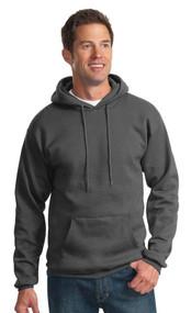 Men's Hooded Fleece Sweatshirt, Charcoal, XX-Large. PC90H