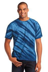 Port & Company Mens Essential Tiger Stripe Tie-Dye Tee