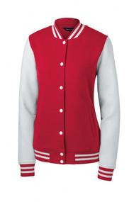 Sport-Tek Ladies Fleece Letterman Jacket + Athletic Wristbands