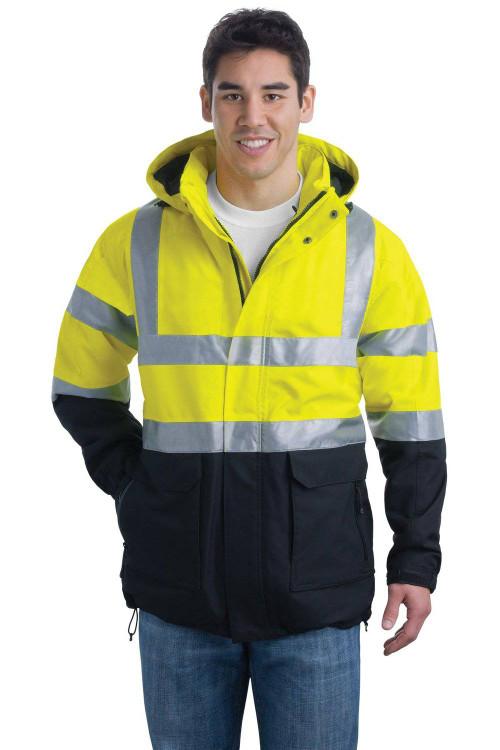 Men's ANSI Class 3 Safety Heavyweight Parka - Small