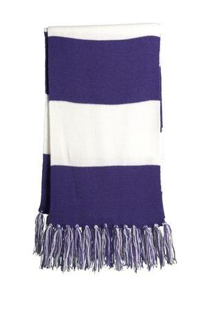 Sport-Tek Spectator Scarf, Purple White