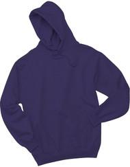 Jerzees Adult Double Lined Hooded Pullover, Deep Purple, Medium