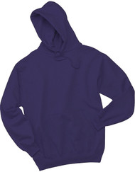 Jerzees Adult Double Lined Hooded Pullover, Deep Purple, Small