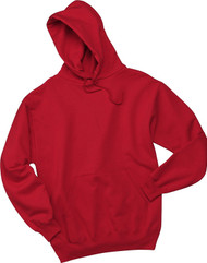 Jerzees Adult Double Lined Hooded Pullover, True Red, Small