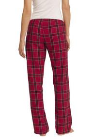District Ladies Juniors Flannel Plaid Pant