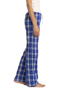 District Ladies Juniors Flannel Plaid Pant