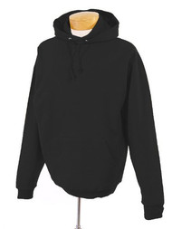Jerzees Adult Double Lined Hooded Pullover, Black, Medium