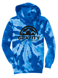 GOC Mountain Water-Based Mens Tie-Dye Pullover Hoodie