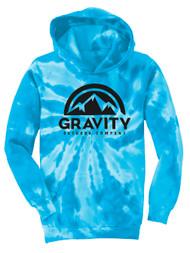 GOC Mountain Water-Based Mens Tie-Dye Pullover Hoodie