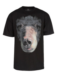 Men's Big Black Bear Face T-Shirt - Black