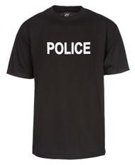 Police Law Enforcement Black T-Shirt
