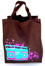 Boombox Radio Essential Tote Bag - Black