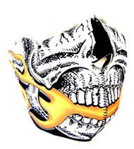 Skulskinz Neoprene Half Face Mask - (Skull & Flames)