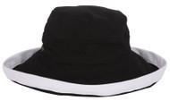 Cotton Canvas Signature SunEscape Protection Hat - Black/White