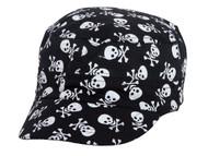 Skull and Crossbones Black Cadet Cap