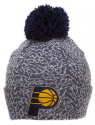 Mitchell & Ness Indiana Pacers Cracked Pattern Cuffed Beanie w/ Pom