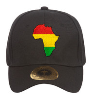 Pan Africa Ethiopia Black Adjustable Baseball Cap