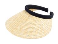 Top Headwear Sewn Braid Wheat Straw Clip-On Visor