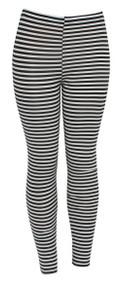Mod Thin Stripes Ladies Leggings Shear Tights