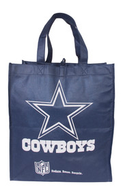 New Eco Friendly Reduce Reuse Recycle NFL Dallas Cowboys Tote Bag