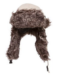 Winter Faux Fur Flight Trooper Aviator Hat Cap - Beige