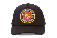 National Rifle Association NRA Black Military Trucker Hat