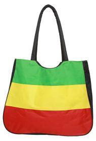 Rasta Colors Beach Tote Bag - Green/Yellow/Red