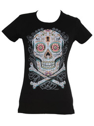 Womens' Day of the Dead Black Shirt