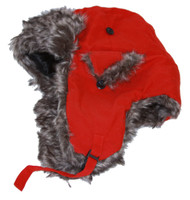 Ushanka Faux Fur Trapper Winter Flight Trooper Hat Cap - RED