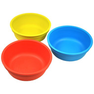 Re-Play 3 Pack Bowls - Primary Colors