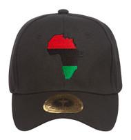 Pan Africa Continent Patch Black Adjustable Baseball Cap