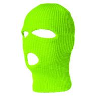 Top Headwear Three Hole Neon Colored Ski Mask - Neon Green