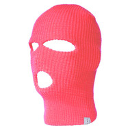 Top Headwear Three Hole Neon Colored Ski Mask -H. Pink