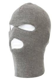 TopHeadwear's 3 Hole Face Ski Mask, Heather Grey