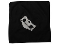 Bandana Skull/Skeleton Mask - Black/White - 12 PACK