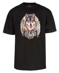 Dream Catcher Wolf Pack T Shirt